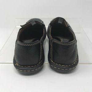 Born Shoes - BØRN Concept Shoes Black Leather Slip Ons Size 6